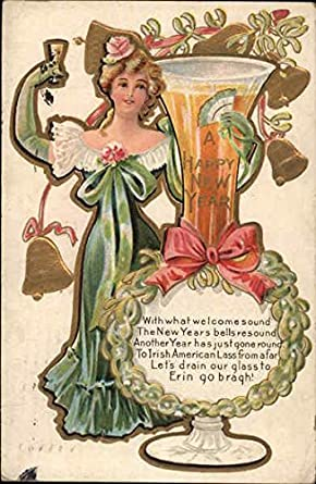 A Happy New Year Angels Cherubs Original Vintage Postcard 1909 At Amazon S Entertainment Collectibles Store