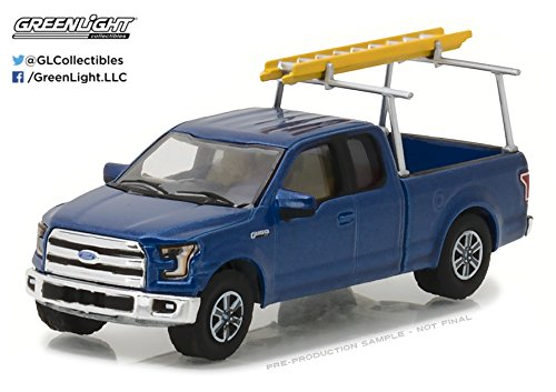 Greenlight 1:64 Blue Collar Series 3 2015 Ford F-150 With Ladder Rack (Rack Three Ladder)