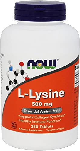 Now Foods L-Lysine 500 Milligrams, 250 Tablets