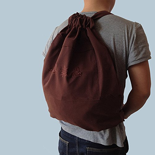 n Temple Backpack Bags for Kung fu Books Clothes brown ()