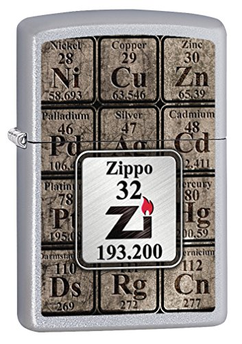 Zippo Lighter: Table of Elements - Satin Chrome 76710 ()