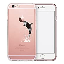 iPhone 6S Case, SwiftBox Cute Cartoon Clear Case for iPhone 6 6S (Whale)
