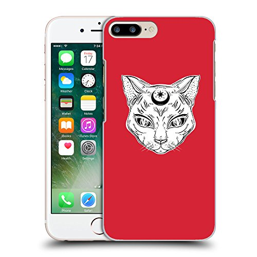 GoGoMobile Coque de Protection TPU Silicone Case pour // Q09640601 lune Chat 2 Alizarine // Apple iPhone 7 PLUS