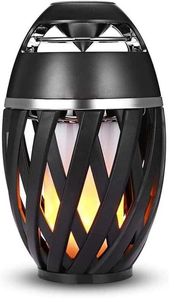 Sundlight LED Flame Bluetooth Speakers Torch Atmosphere Bluetooth Speakers&Outdoor Portable Stereo Speaker with HD Audio and Enhanced Bass LED flickers Warm Yellow Lights BT4.1