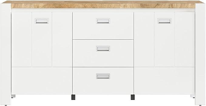 SMARTBett DEVISO - Cómoda (160 cm de ancho, roble), color blanco ...