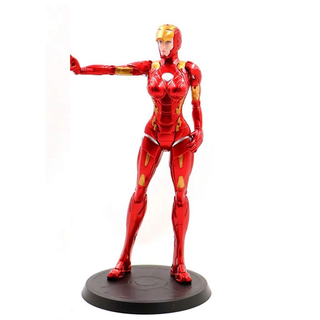 KLEDDP Spielzeug Modell Anime Charakter Avengers League Manpiece Souvenir Sammlerstücke Kunsthandwerk Geschenke Iron Girl Iron Man 20cm Spielzeugstatue (Farbe   B) A