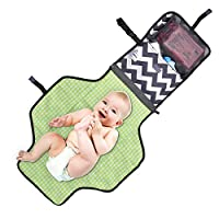 Aautoo Portable Changing Mat Diaper Changing Pad Head Cushion Inside Baby Tra...