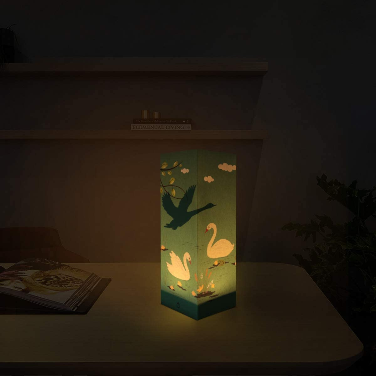 Deer Paper Lanterns Decorative Creative Novelty Paper Lanterns Collapsible Safety Material USB Low Power Energy Save Lamp Home Room Christmas Decor Kids Adult Friends Gift