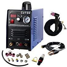 DALISHI Plasma Cutter 50Amp Non Touch Pilot Arc Cutting Machine CNC 1/2 Inch Clean Cut Dual Voltage 110/220V With Cutting Torch AG60 and Consumables For Cut50P