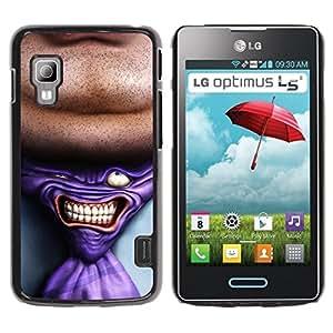 Caucho caso de Shell duro de la cubierta de accesorios de protección BY RAYDREAMMM - LG Optimus L5 II Dual E455 E460 - Tie Man Neck Suit Tie Art Drawing Portrait