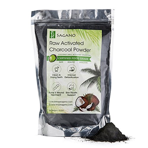 Find Discount Activated Charcoal Powder 1LB by Sagano - Food Grade Coconut Charcoal Toothpaste, Natu...