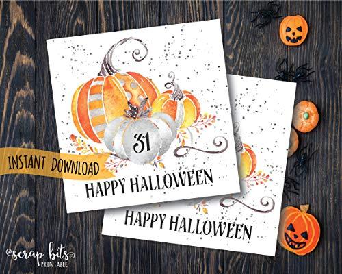 Moira Happy Halloween Tags Magical Pumpkins Halloween Tags Printable Halloween Tags Instant Download