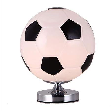 LMM Creative Glass Ball fútbol lámpara de Escritorio, fútbol ...