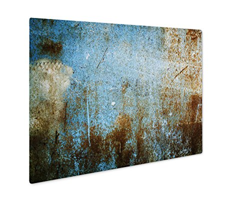 (Ashley Giclee Picture Of Abstract Wallpaper Old Iron Rusty Grunge, Wall Art Photo Print On Metal Panel, Color, 8x10, Floating Frame, AG6051064)