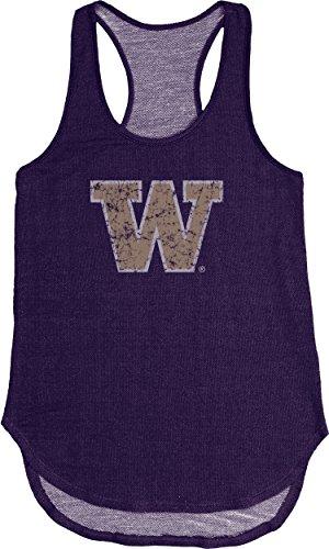 (Blue 84 NCAA Washington Huskies Adult Women NCAA Women's Tri Blend Panel Tank,Medium,Purple)