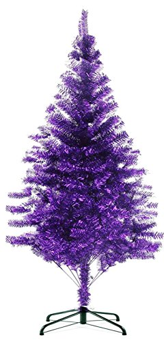 HB-101 7' FT 720tips Sparking Gorgous Tinsel Chrismas Tree Purple