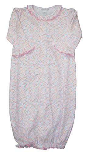 Kissy Kissy Baby-Girls Infant Darling Dachsunds Convertible Gown-Multicolored-Newborn