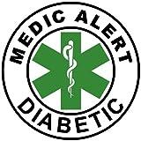 Medic Alert Temporary Tattoo ID- MEDIC ALERT DIABETIC- Green