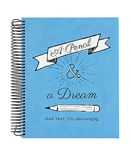 Eccolo World Traveler 8'' x 10'' Hardcover Sketchbook, Pencil and a Dream (D914E) by Eccolo World Traveler
