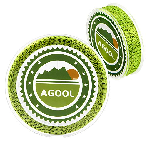 AGOOL Braid Fly Fishing Backing Line 20LB/100M for Saltwater Freshwater Trout Bass Pike Fishing (Yellow & Black)