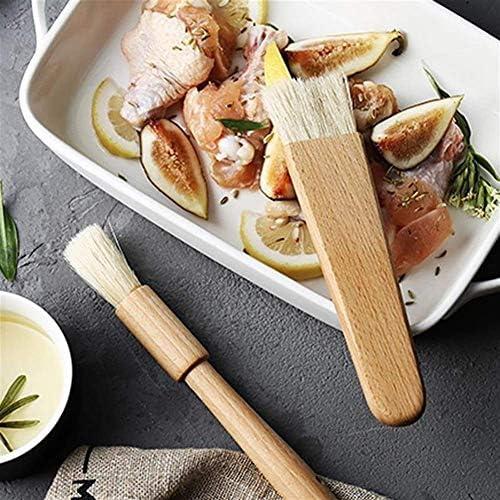 DLYGH 2PCS Cucina Olio Pennelli Pennello for condimenti Manico in Legno Barbecue Grill Pastry Brush Cottura Cooking Tools Burro Salsa al Miele Bakeware