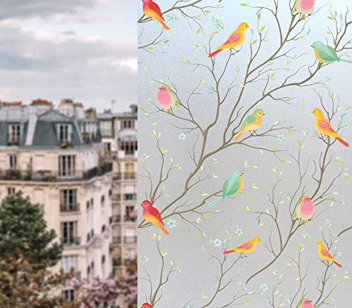 Coavas Privacy Window Film Non-Adhesive Frosted Bird Window Film Decorative Glass Film Static Cling Film Bird Window Stickers for GF-WF-90-2B Home Office 35In. by 78.7In. (90 x 200Cm) by Coavas (Image #6)