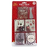 Luxury Foiled Christmas Gift Tags - Silver Traditional - Pack of 50-5 Designs with Silver Thread