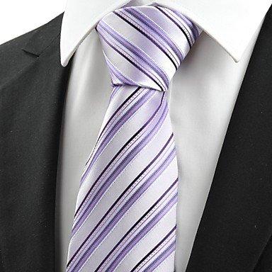 FYios®Los hombres de negro con rayas Violeta Corbata de Lazo Boda ...
