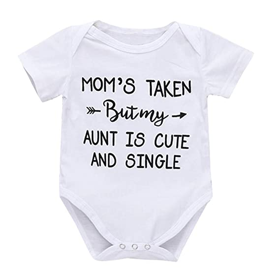Newborn Infant Baby Boys Girls Clothes Letter Romper Bodysuit Jumpsuit Outfits S