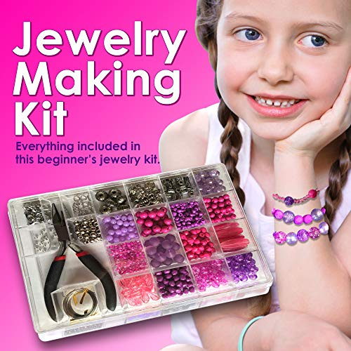 Jewelry Making Kit Everything Included it This Beginners Jewelry kit Girls and Teens Will Love Exploring Their Creativity Directions Included with This Fun Girls Bead kit.