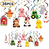 Farm Birthday Party Supplies,Hanging Swirls Barnyard Party Decorations for Barnyard Birthday Party Supplies Farm Animal Party Supplies