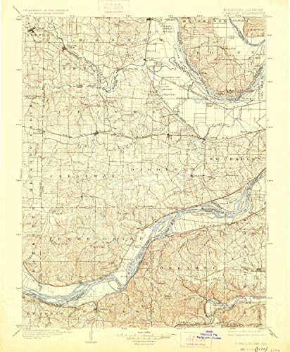 O Fallon MO topo map, 1:125000 Scale, 30 X 30 Minute, Historical, 1903, Updated 1927, 19.8 x 16.3 in - Tyvek -