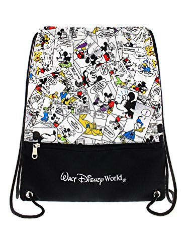 Walt Disney World Mickey Mouse and Friends Comic Cinch Sack Drawstring -