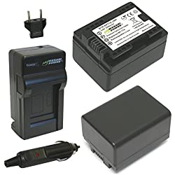 Wasabi Power Battery (2-pack) & Charger For Canon Bp-718