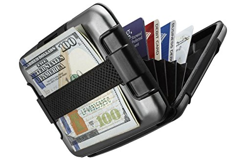 sharkk-rfid-protected-aluminum-wallet-with-cash-band-rugged-card-case-wallet