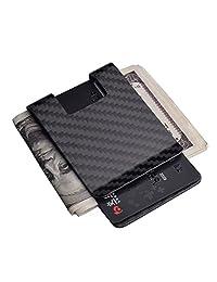 Carbon Fiber Money Clip, CL CARBONLIFE® RFID Business Credit card holder Matte wallet
