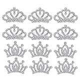 Small Princess Crowns Tiaras Party Favors for Women Girls Toddler Bulk Combs Clips Hair Accessories Pack of 12