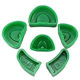 6pcs Dental Silicone Plaster Model Former Base