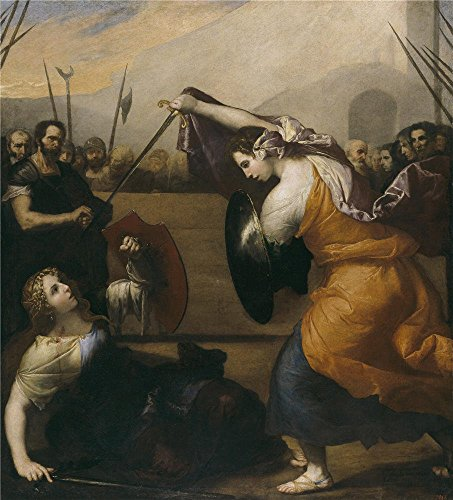 Oil Painting 'Ribera Jose De Combate De Mujeres 1636', 8 x 9 inch / 20 x 22 cm , on High Definition HD canvas prints is for Gifts And Dining Room, Gym And Powder Room Decoration, (Flash Dancer Costume Ideas)