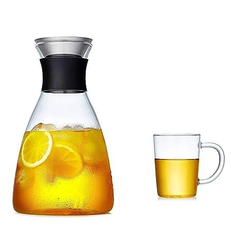 BB&ONE Jarra de cristal de 1800 ml, tetera de hielo reutilizable ...