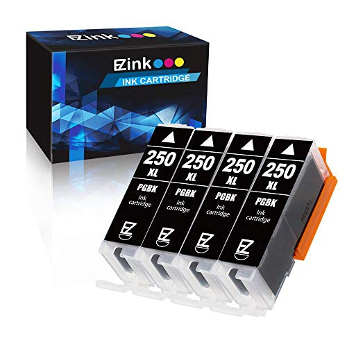 E-Z Ink (TM) Compatible Ink Cartridge Replacement for Canon PGI-250XL PGI 250 XL to use with PIXMA MX922 MX722 MG5420 MG5520 MG5620 MG6320 MG6420 MG6620 MG7120 MG7520 iP8720 (Large Black) 4 Pack (Printer Ink Canon Mx722)