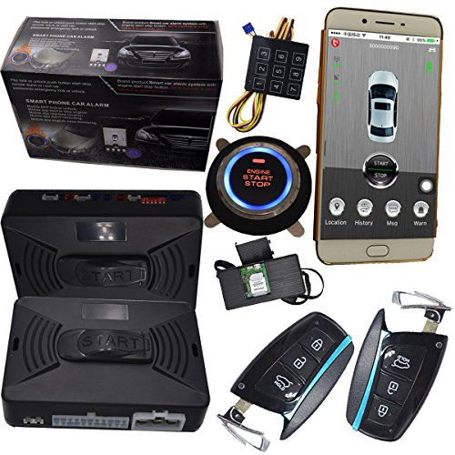gsm car alarm security system gps gsm keyless engine start stopgsm car alarm security system gps gsm keyless engine start stop button gps online tracking system