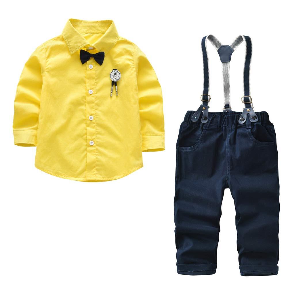 Fairy Baby Boys Outfit Set 4pcs Gentle Clothes Set