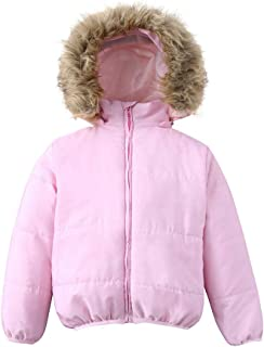 GoodLock Baby Boys Girls Fashion Warm Jackets Toddler Kids Faux Fur Winter Hooded Coats Outerwear
