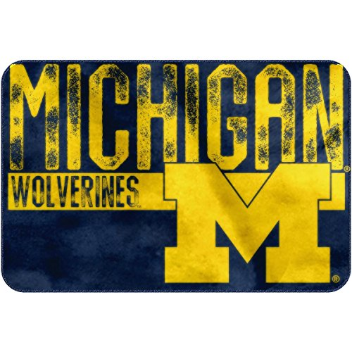 The Northwest Company NCAA Michigan Embossed Memory Foam Rug, One Size, (Michigan Rug)