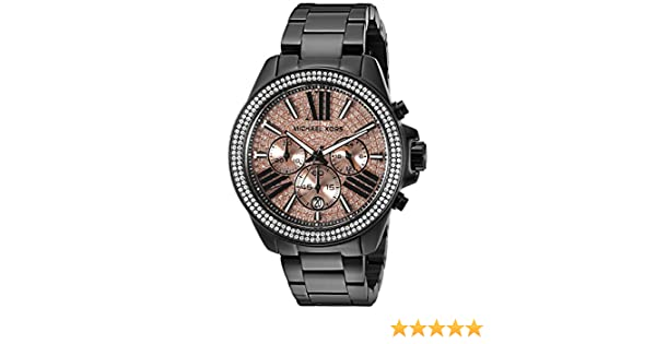 fe0ab9848d8e Michael Kors Women s Wren Black Watch MK5879  Michael Kors  Amazon.ca   Watches