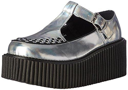 Demonia Women's Cre214/Shg-Bvl Sneaker, Fashion Sneaker, Cre214/Shg-Bvl SLV Hologram-Black Vegan Leather B01M1BBR0F Shoes f1a79e