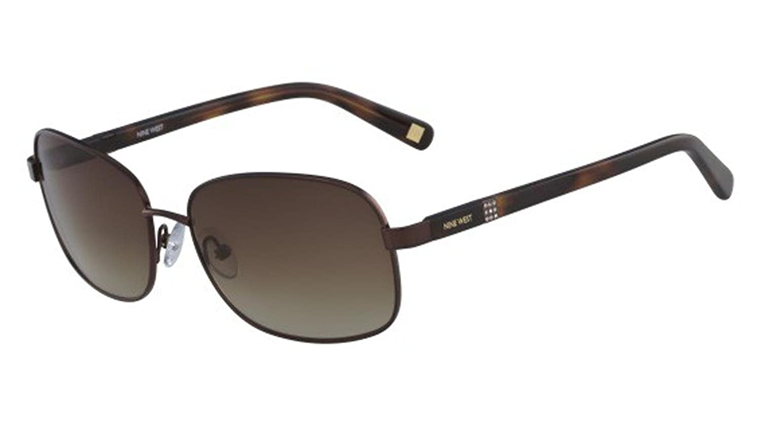 Sunglasses NINE WEST NW 123 S 210 SHINY BROWN at Amazon ...