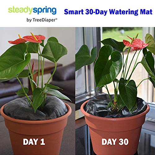 SteadySpring Smart 30-Day Watering Mat for Tomato Plants, Peppers, Veggies, Perennials, Annuals - Self-Fills with Rain (4) by Smart Spring (Image #1)