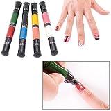 Migi Nails Nail Art Polish Beautifully Bold - 4 Pens With 8 Bold Traditional Colors